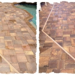 Paver Pool Deck Before-After