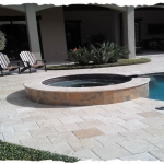 12x12 Ivory Travertine Pool Deck