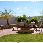 Appian Combo Walkway & Sitting Area with Stone Firepit