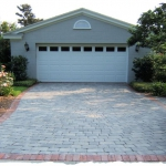 Appian Slate with Red Brick Border
