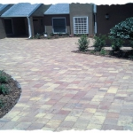 Autumn Old Towne Paver Driveway