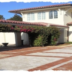 Brick and Travertine Driveway