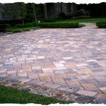 Cream-Beige-Charcoal 6 x 12 with Natural Stone Border