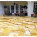 Gold French PatternTravertine Deck