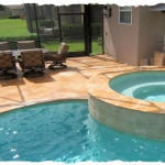 Gold Travertine Coping & Deck