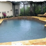 Gold Travertine Deck & Coping