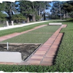 Harvest Blend Pavers and Artificial Turf Horse Shoe Pit