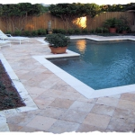 Noce 12 x 12 Travertine Deck