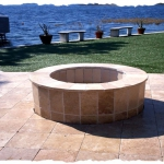 Travertine Firepit