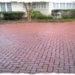 Tumbled Heartland Flashed Brick Herringbone Pattern