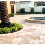 Walnut Travertine Pool Deck