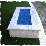 Limestone Clad Fire Pit with Granite Top
